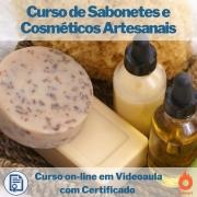 Curso on-line em videoaula de Sabonetes e Cosméticos Artesanais com Certificado