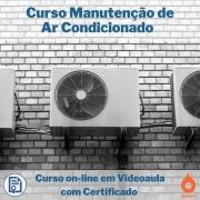 Curso on-line em videoaula Manutenção de Ar Condicionado com Certificado