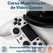 Curso on-line em videoaula Manutenção de Vídeo Games com Certificado