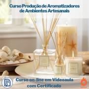 Curso on-line em videoaula Produção de Aromatizadores de Ambientes Artesanais com Certificado