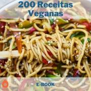 E-book com 200 Receitas Veganas