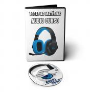 Kit Especial - Todas as Matérias em Áudio Aula: Física Química Biologia Gramática Português Matemática Inglês Geografia História Redação Literatura
