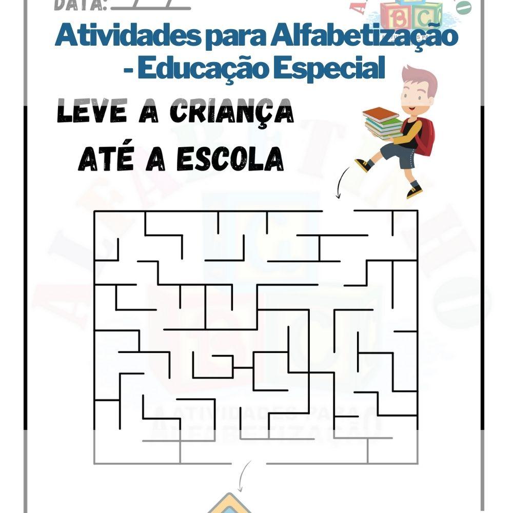 Atividades para Alfabetização - Educação Especial  - Aprova Cursos