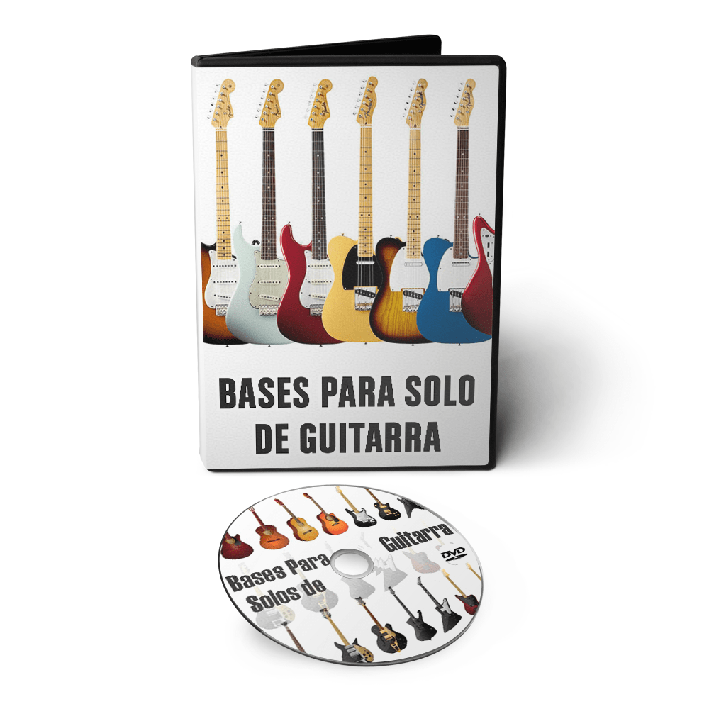 Bases para Solo de Guitarra - Jazz Rock Metal Reggae Country em DVD