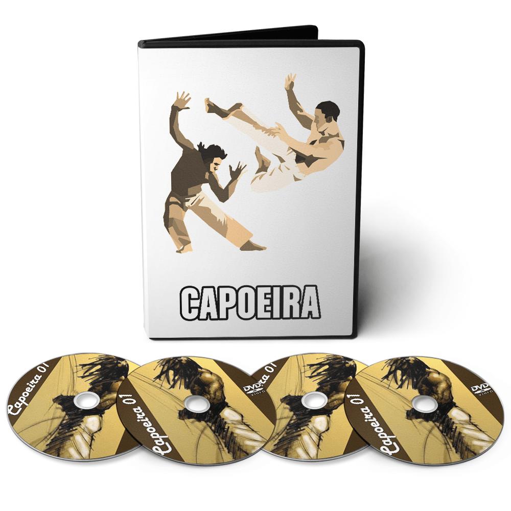 Capoeira - Técnicas, Treinamentos e Condicionamento em 04 DVDs Videoaula  - Aprova Cursos
