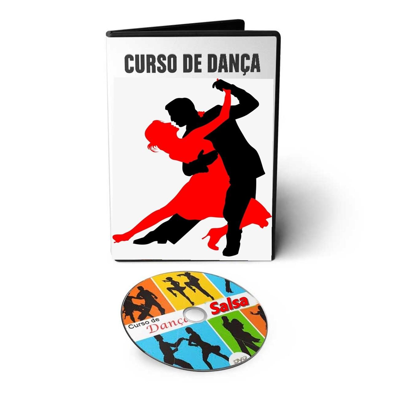 Curso Aprenda a Dançar Salsa em 03 DVds Videoaula  - Aprova Cursos