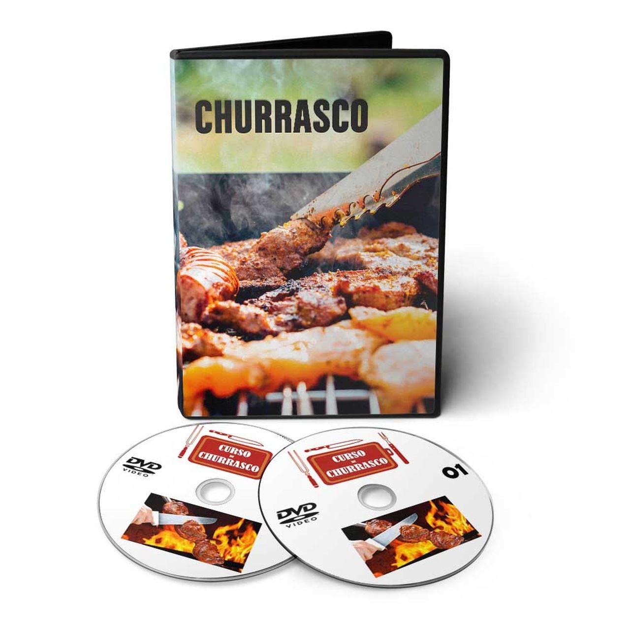 Curso aprenda fazer Churrasco em 02 DVDs Videoaula  - Aprova Cursos