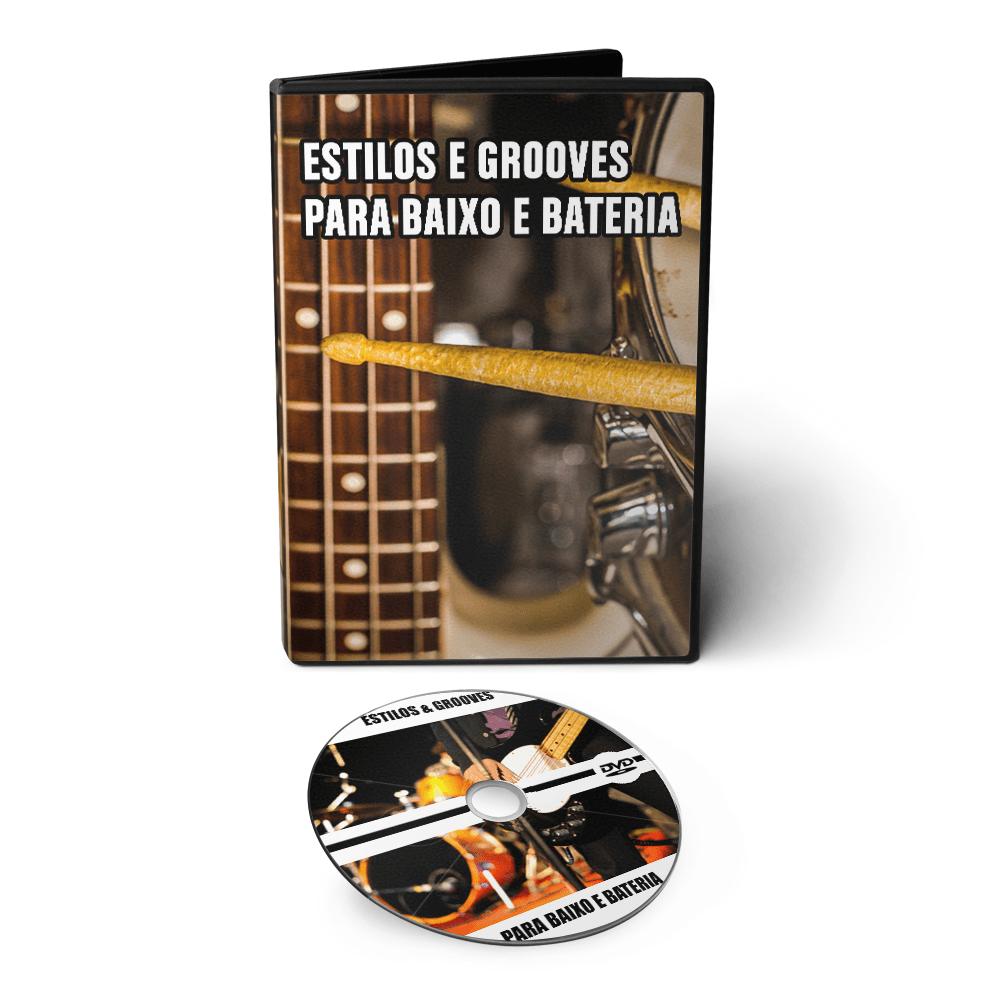Curso Conceitos: Estilos e Grooves para Baixo e Bateria em DVD Videoaula
