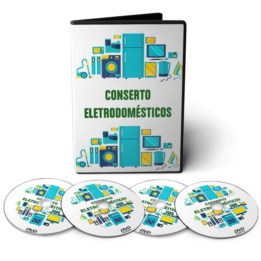 Curso Conserto de Eletrodomésticos em 09 DVDs Videoaula + CD com apostilas Digitais