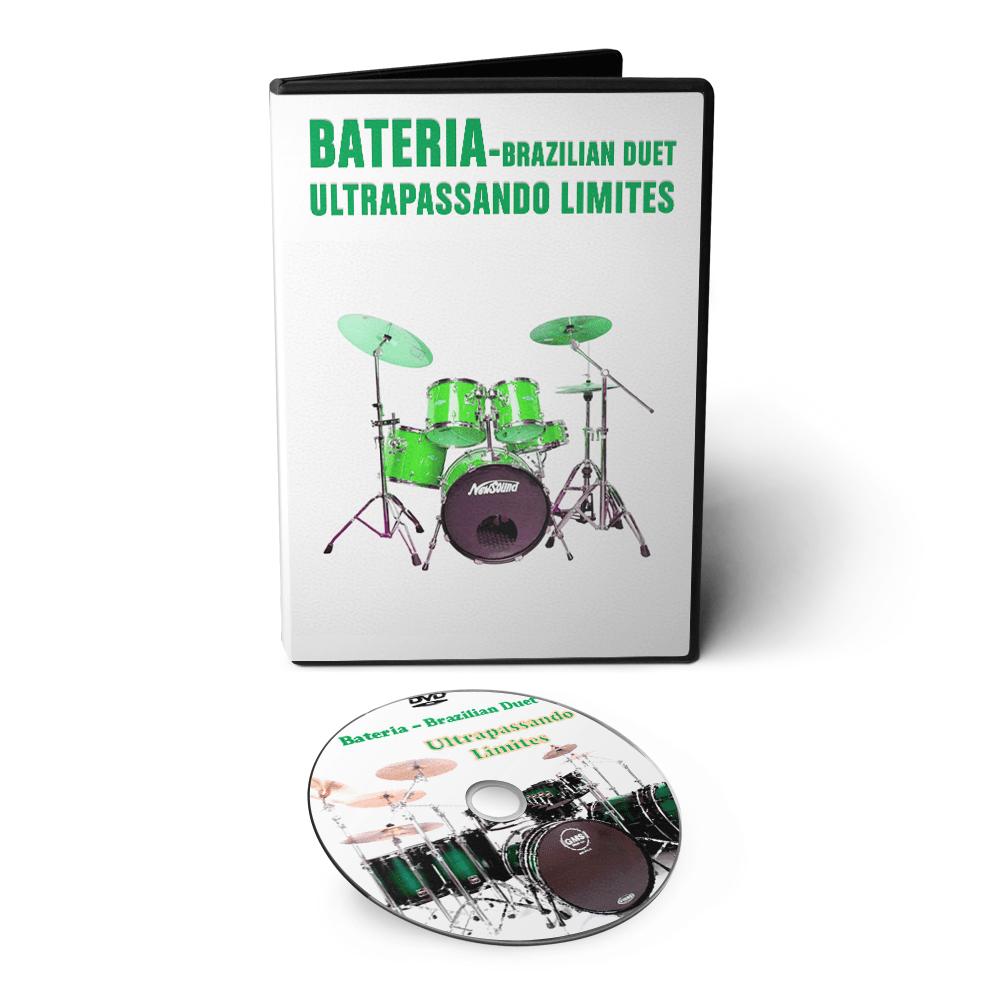 Curso de Bateria - Brazilian Duet Ultrapassando Limites em DVD Videoaula