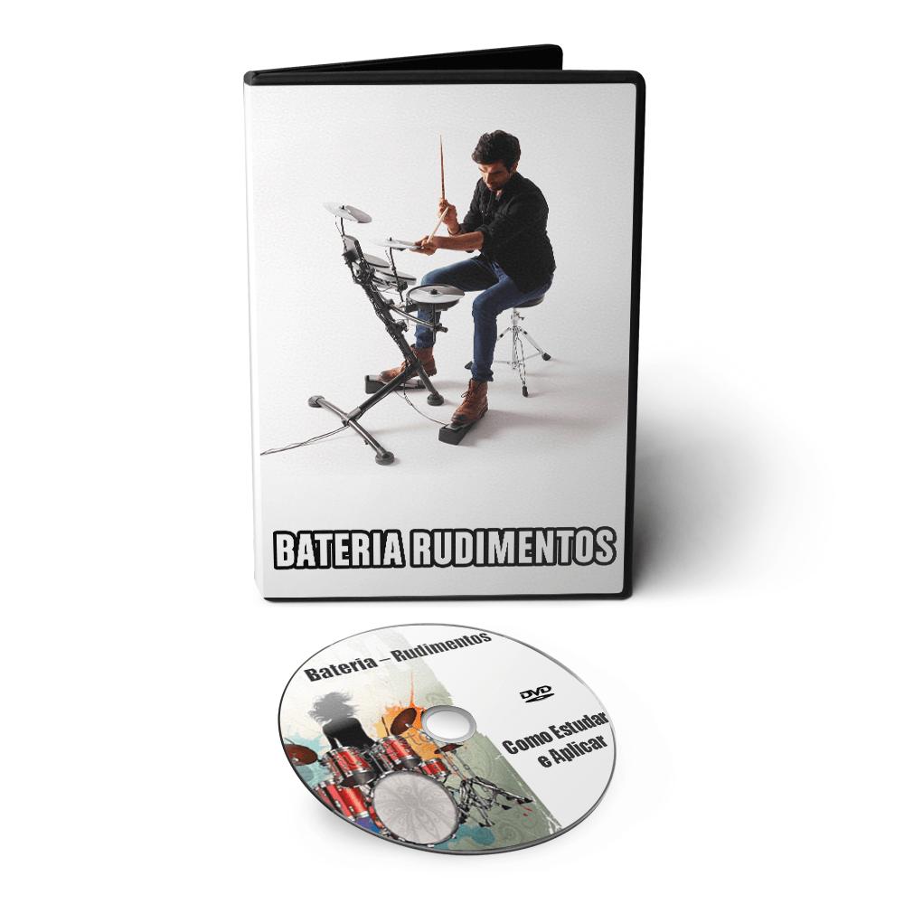 Curso de Bateria - Rudimentos: Como Estudar e Aplicar em DVD Videoaula