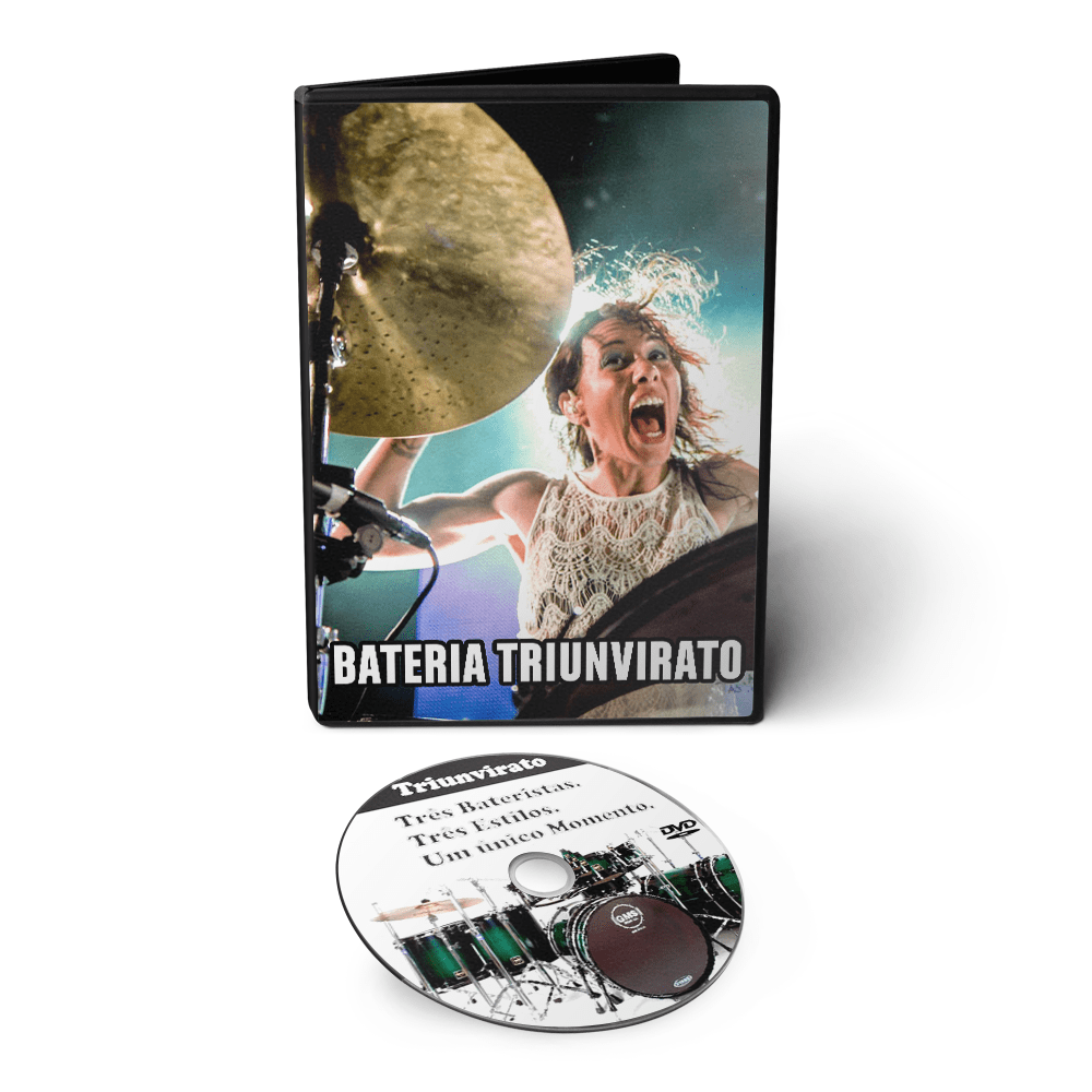 Curso de Bateria Triunvirato - Três Bateristas, Três Estilos, Um único momento em DVD Videoaula