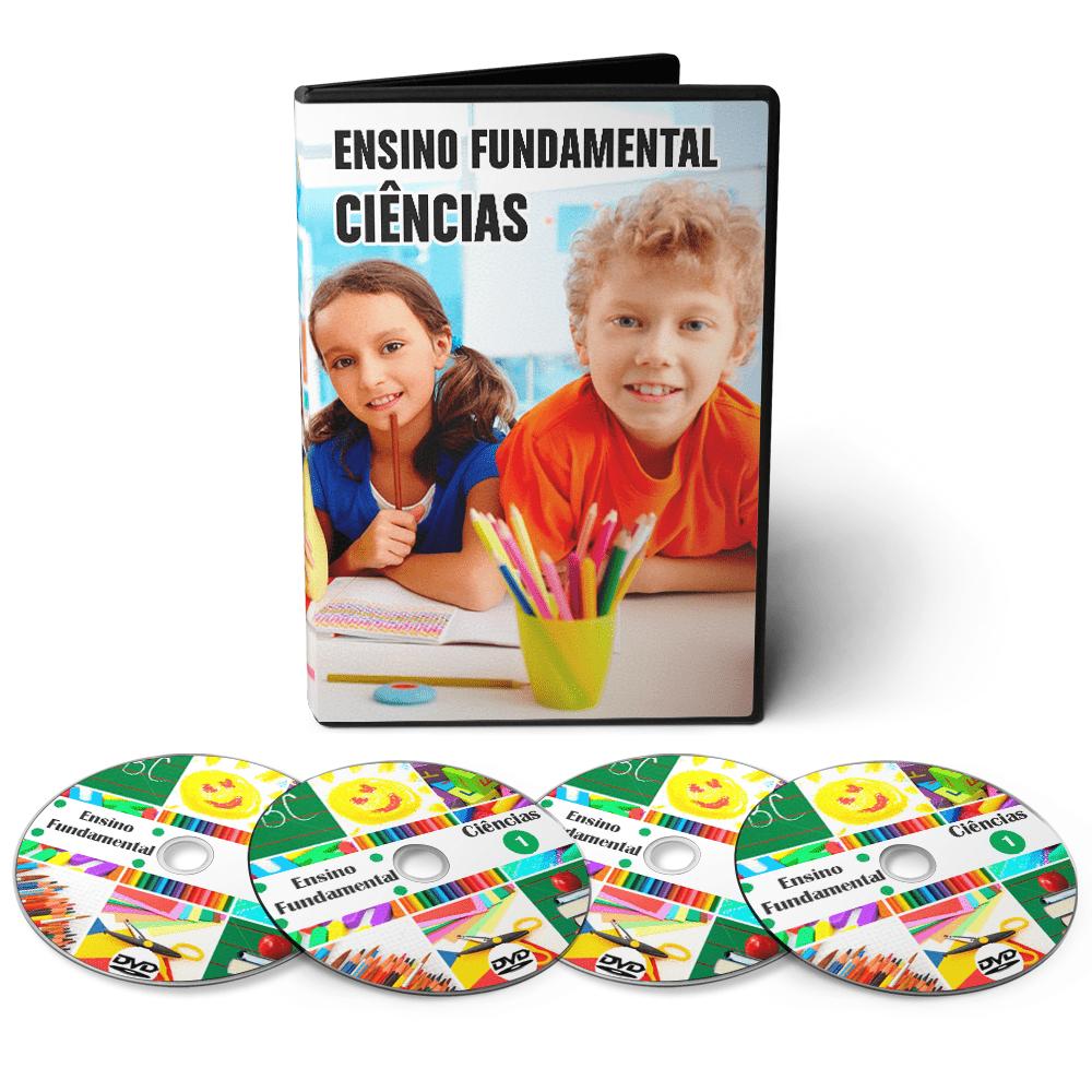 Curso de Ciências - Ensino Fundamental 1º Grau (5º ao 9º Ano) em 04 DVDs Videoaula