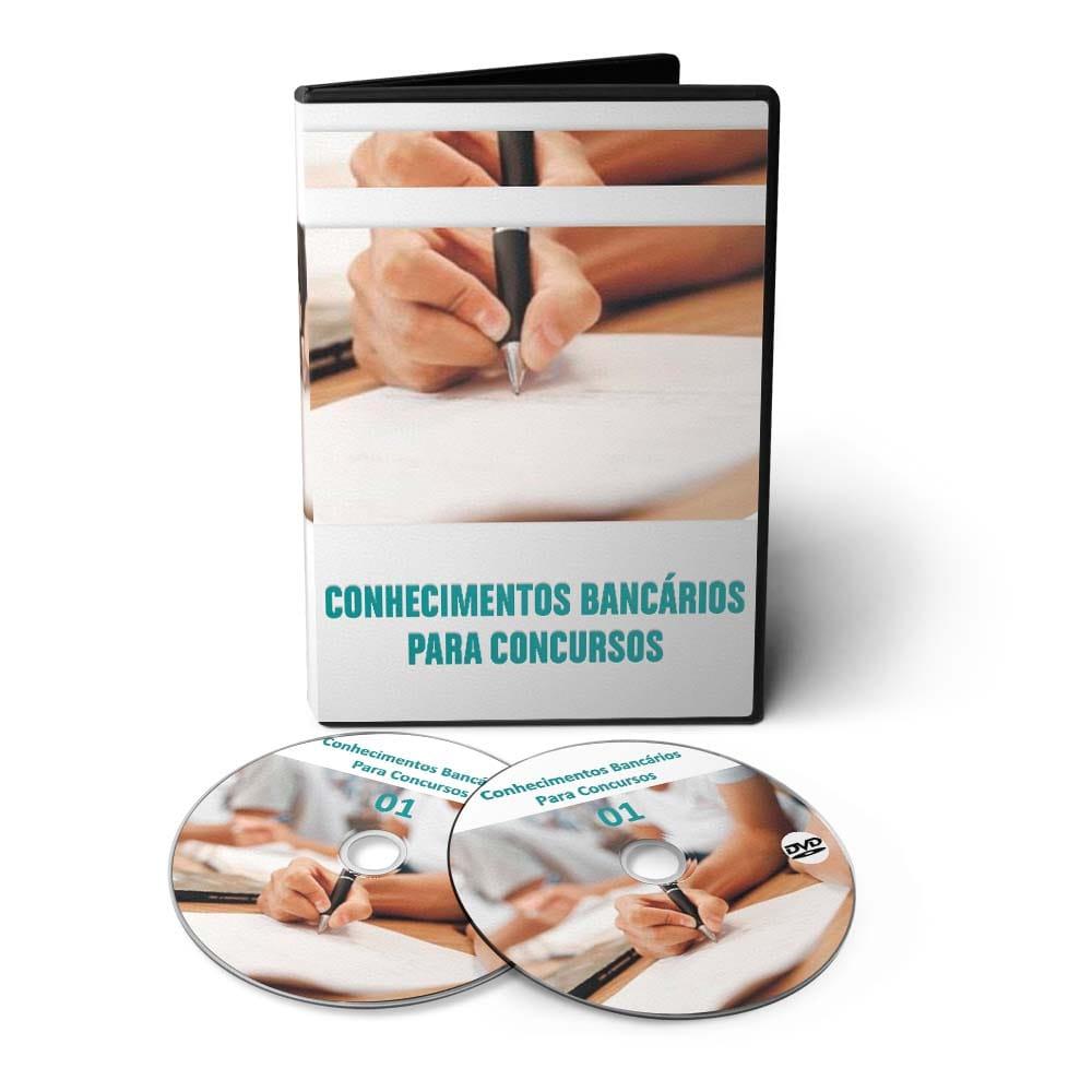 Curso de Conhecimentos Bancários para Concursos em 03 DVDs Videoaula  - Aprova Cursos