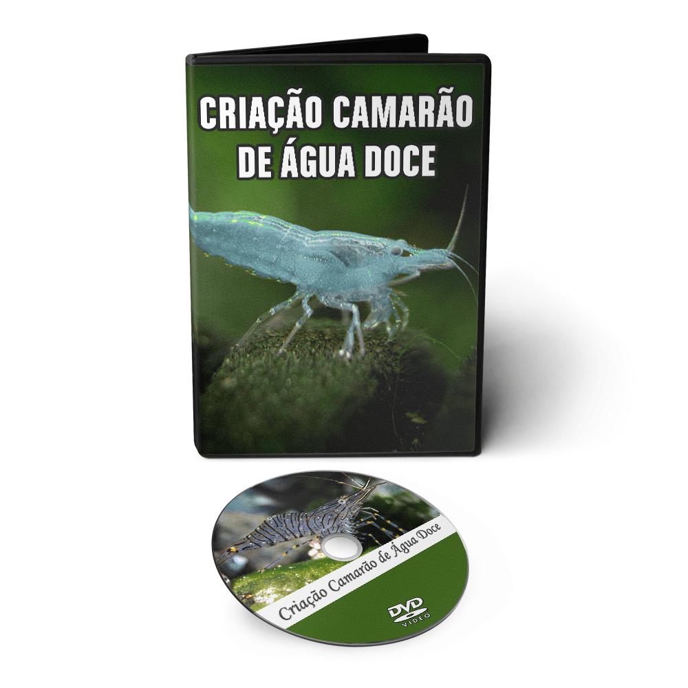 Curso de Cultivo de Camarões de Água Doce em DVD Videoaula