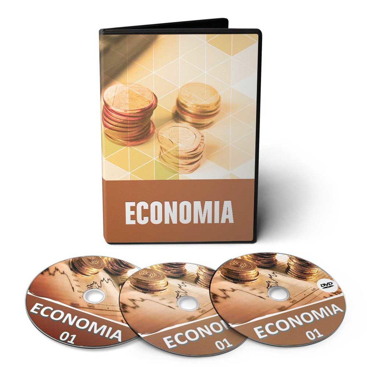 Curso de Economia em 03 DVDs Videoaula  - Aprova Cursos