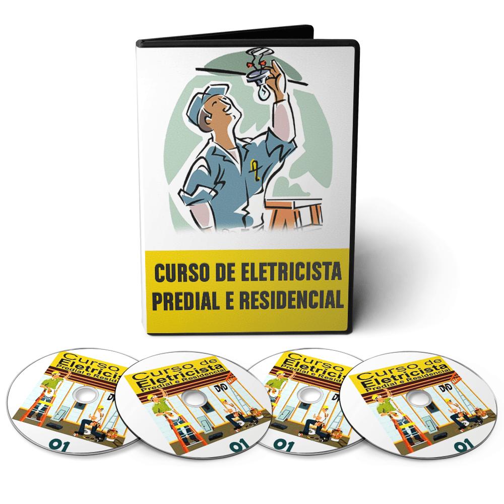Curso de Eletricista Profissional em 10 DVDs Videoaula + Apostilas Digitais