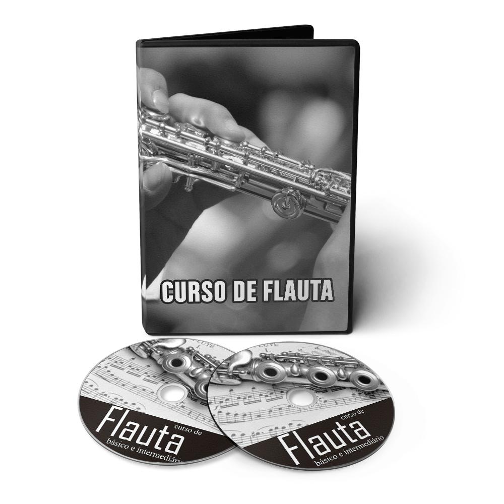 Curso de Flauta do Básico ao Avançado em 02 DVDs Videoaula  - Aprova Cursos