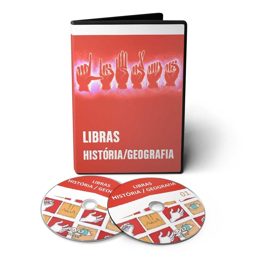 Curso de Geografia e História Libras em 02 DVDs Videoaula
