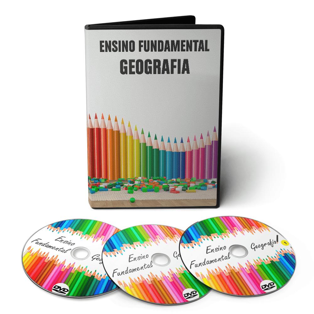 Curso de Geografia - Ensino Fundamental 1º Grau (5º ao 9º Ano) em 03 DVDs Videoaula