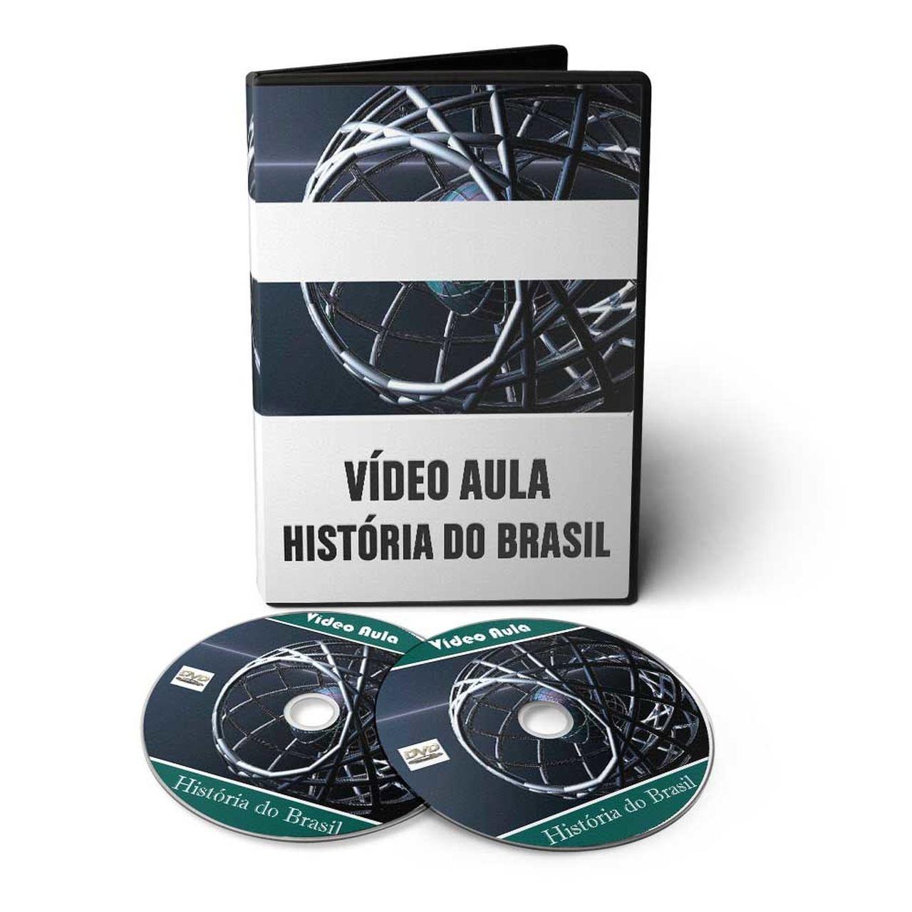 Curso de História do Brasil e Mundial em 02 DVDs Videoaula  - Aprova Cursos