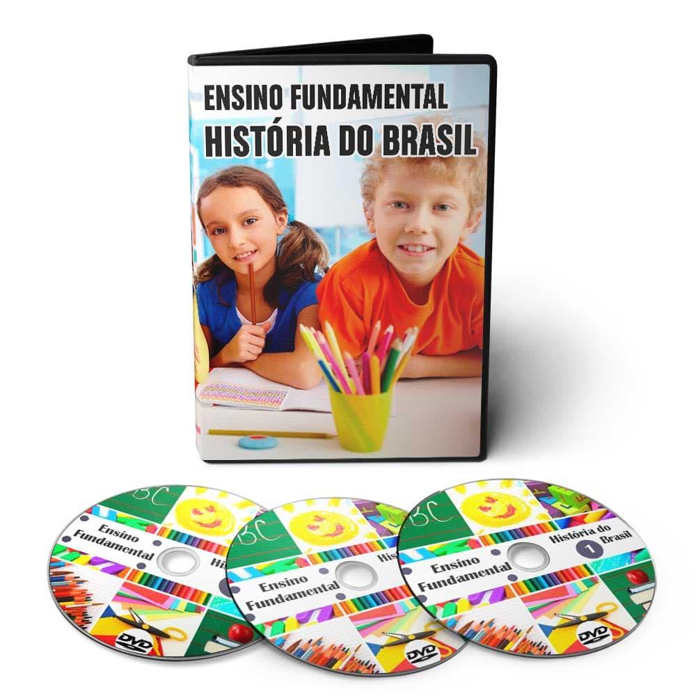 Curso de História - Ensino Fundamental 1º Grau (5º ao 9º Ano) em 03 DVDs Videoaula