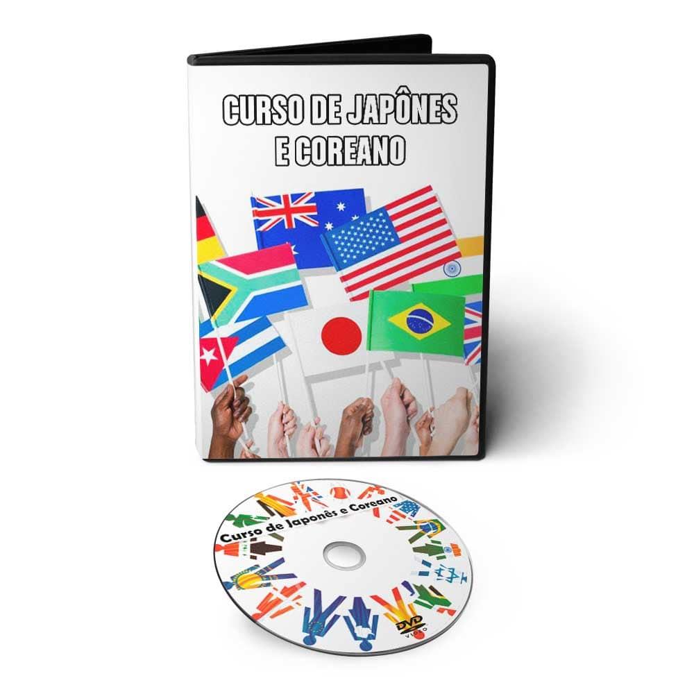 Curso de Japonês e Coreano em 01 DVD Interativo  - Aprova Cursos