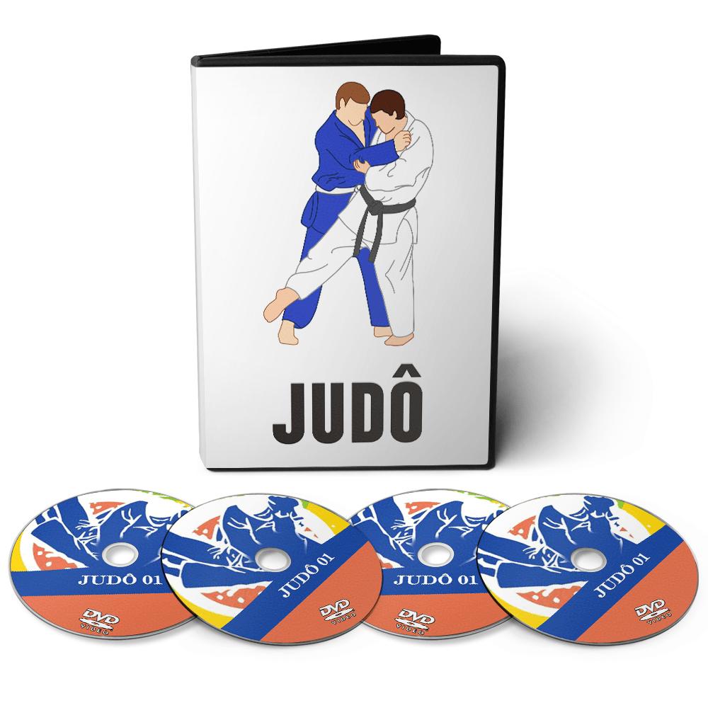 Curso de Judô com várias Técnicas em 04 DVDs Videoaula