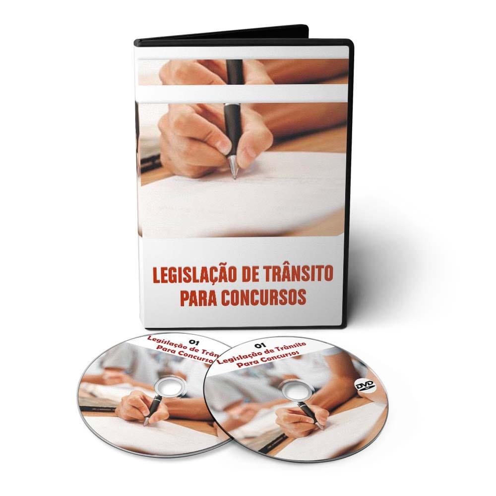 Curso de Legislação de Trânsito para Concursos em 02 DVDs Videoaula  - Aprova Cursos