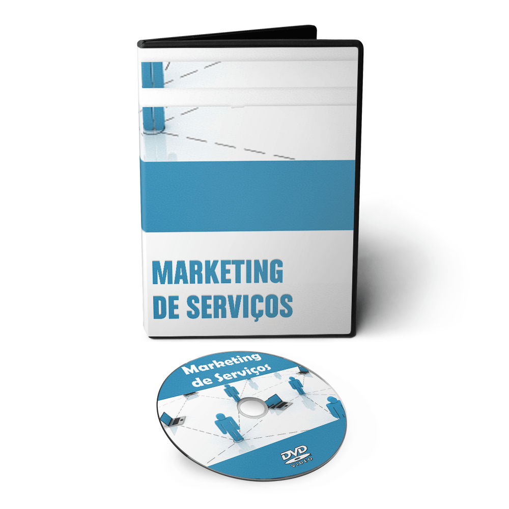 Curso de Marketing de Serviços em 02 DVDs Videoaula  - Aprova Cursos