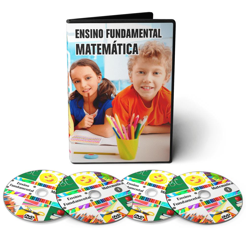 Curso de Matemática - Ensino Fundamental 1º Grau (5º ao 9º Ano) em 04 DVDs Videoaula