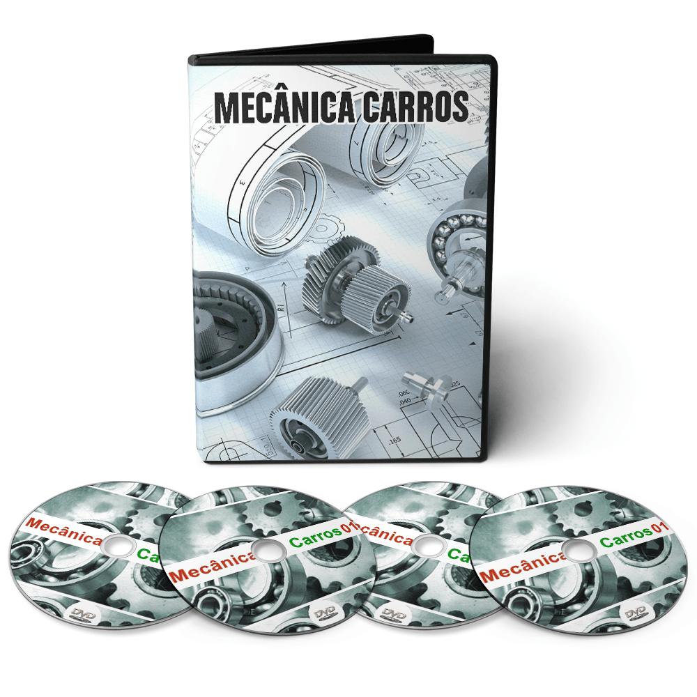 Curso de Mecânica de Manutenção de Veículos em Geral em 03 DVDs Videoaula + DVD com Apostilas Digitais