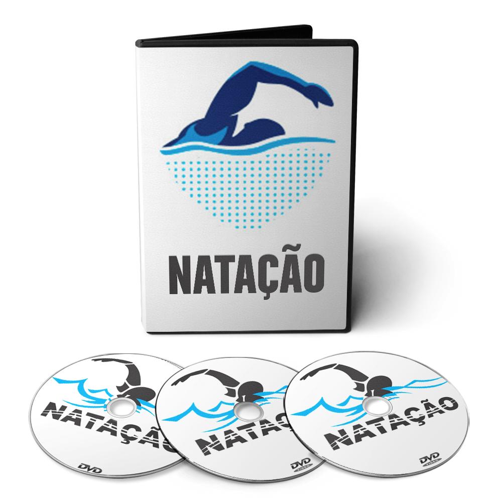 Curso de Natação + Hidroginástica em 04 DVDs Videoaula