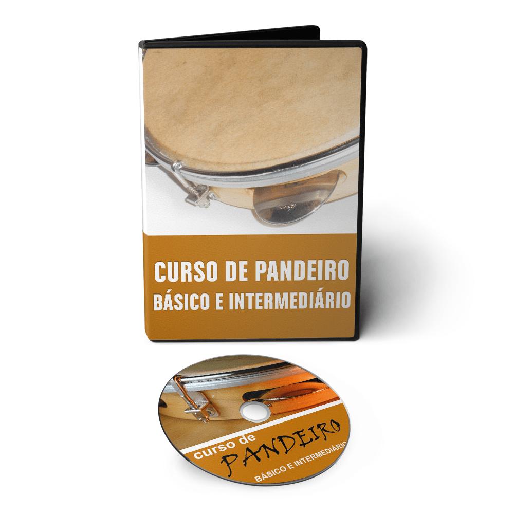 Curso de Pandeiro e Percussão em 02 DVDs Videoaula