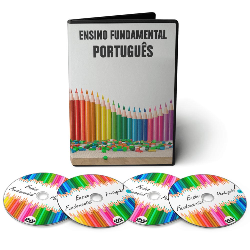 Curso de Português - Ensino Fundamental 1º Grau (5º ao 9º Ano) em 04 DVDs Videoaula  - Aprova Cursos