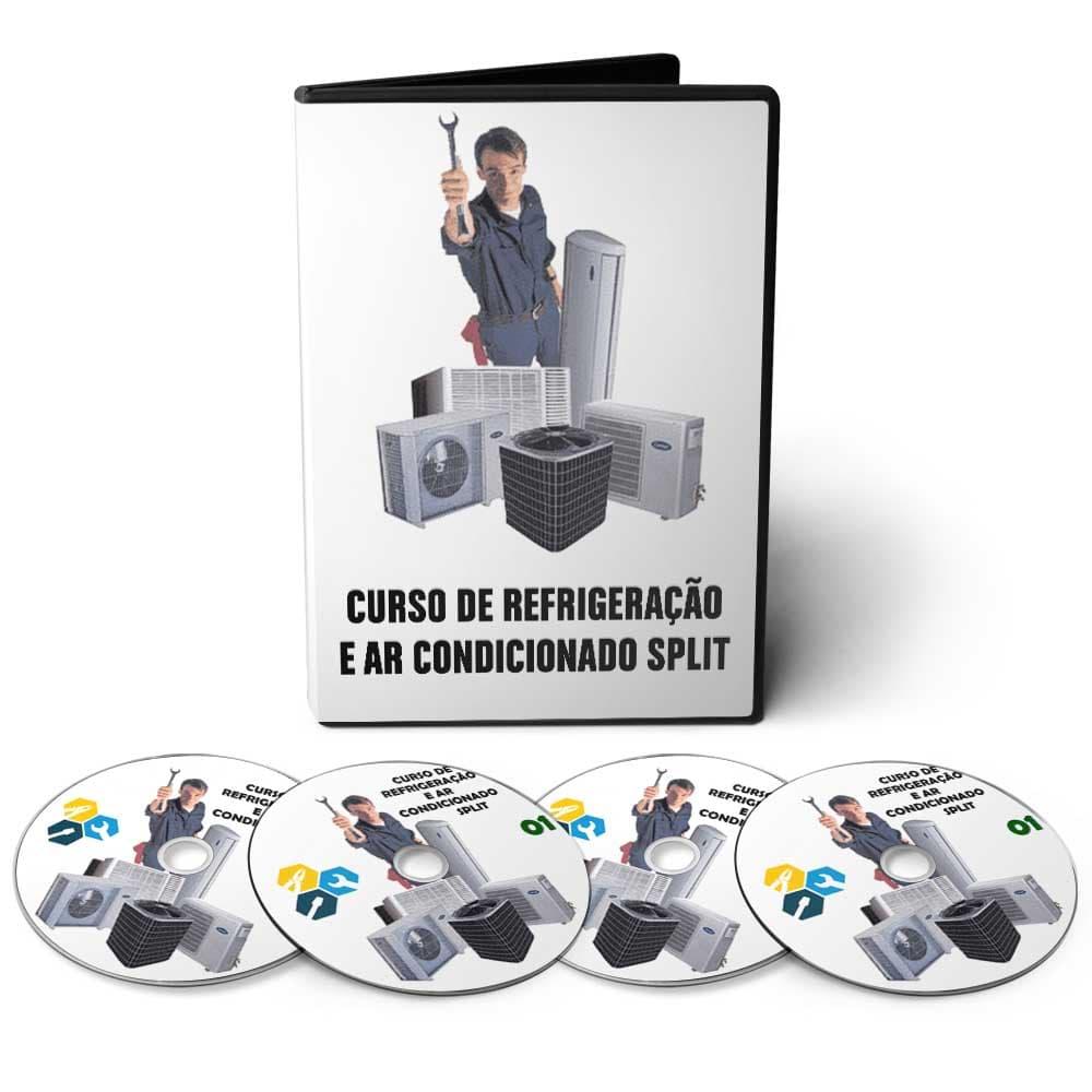 Curso de Refrigeração e Ar Condicionado Split em 08 DVDs Videoaula