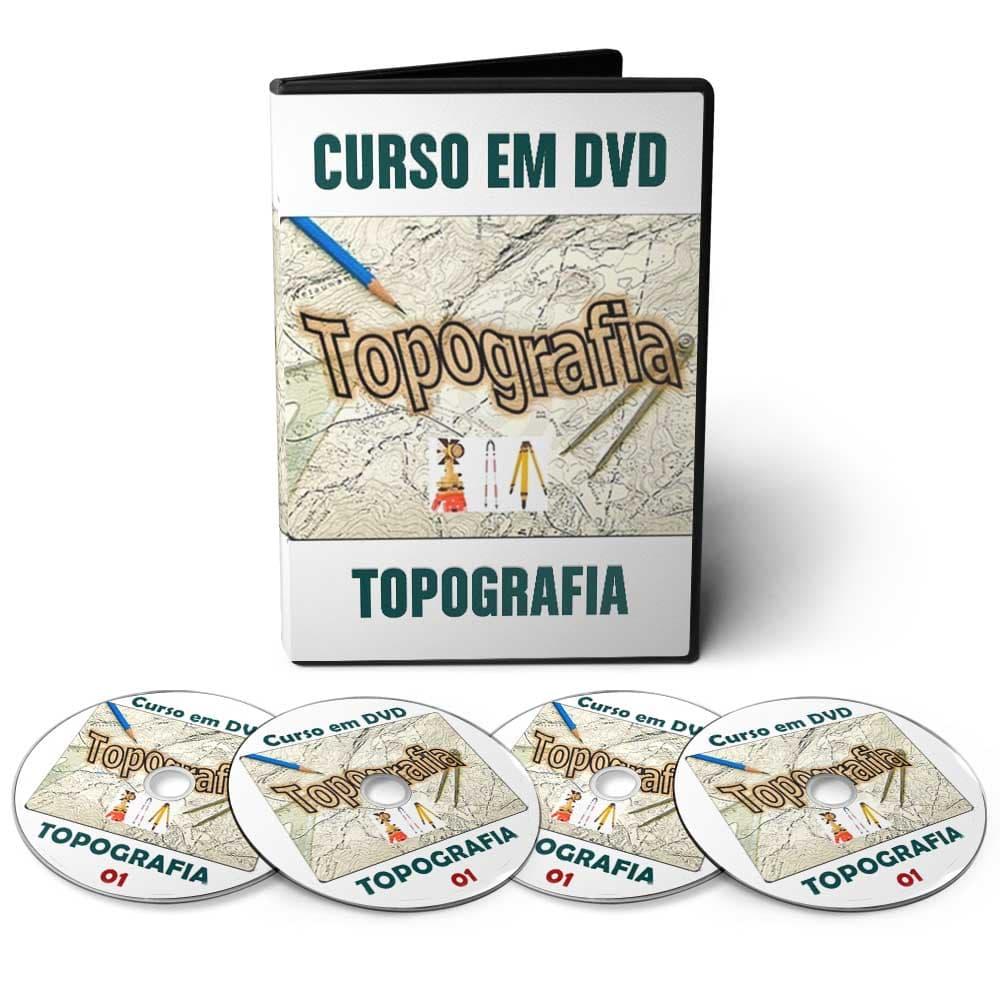 Curso de Topografia em 08 DVDs Videoaula + Apostilas Digitais  - Aprova Cursos