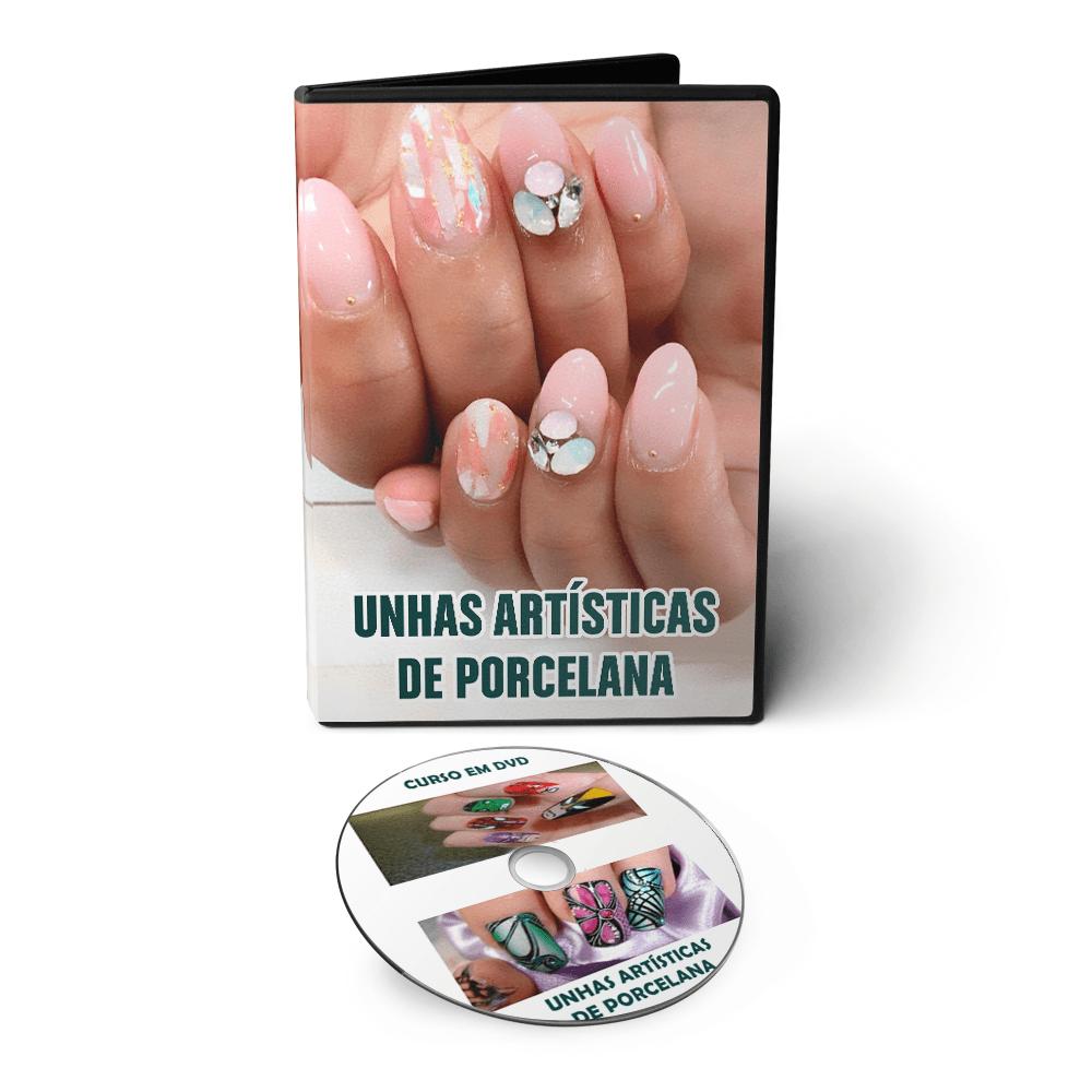 Curso de Unhas Artísticas de Porcelana em DVD Videoaula