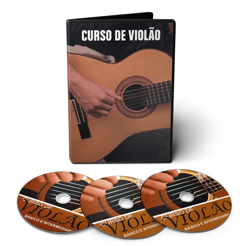 Curso de Violão do Básico ao Avançado em 03 DVDs Videoaula