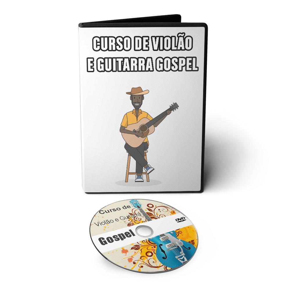 Curso de Violão e Guitarra Gospel em DVD Videoaula  - Aprova Cursos