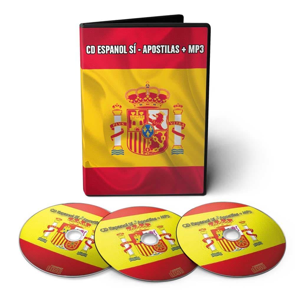 Curso Espanhol Sí em 06 DVDs Videoaula + 01 CD com Áudio aulas e Apostilas Digitais