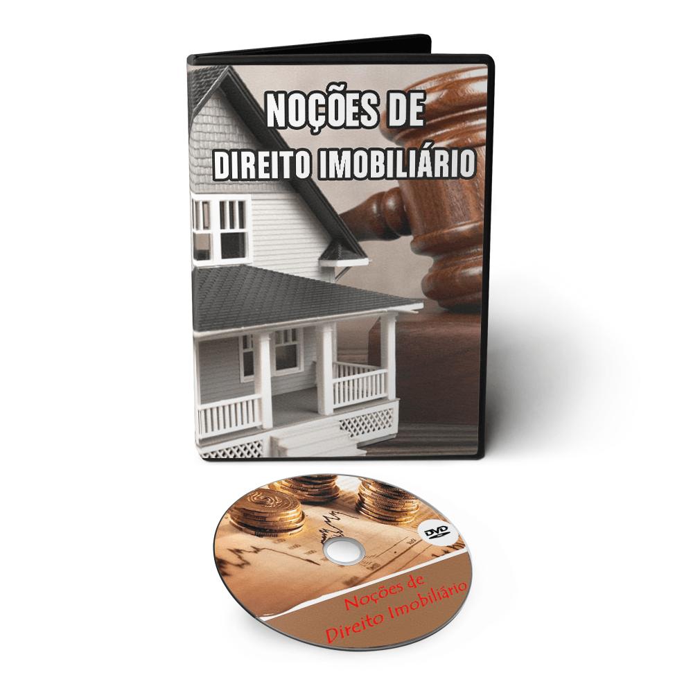 Curso Noções Gerais de Direito Imobiliário em 02 DVDs Videoaula