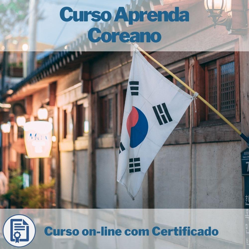 Curso on-line Aprenda Coreano com Certificado