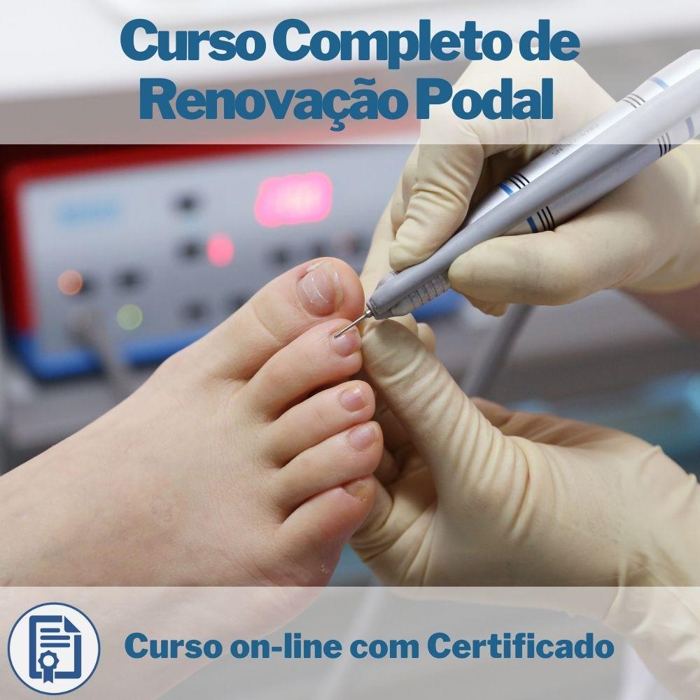 Curso on-line Completo de Renovação Podal com Certificado