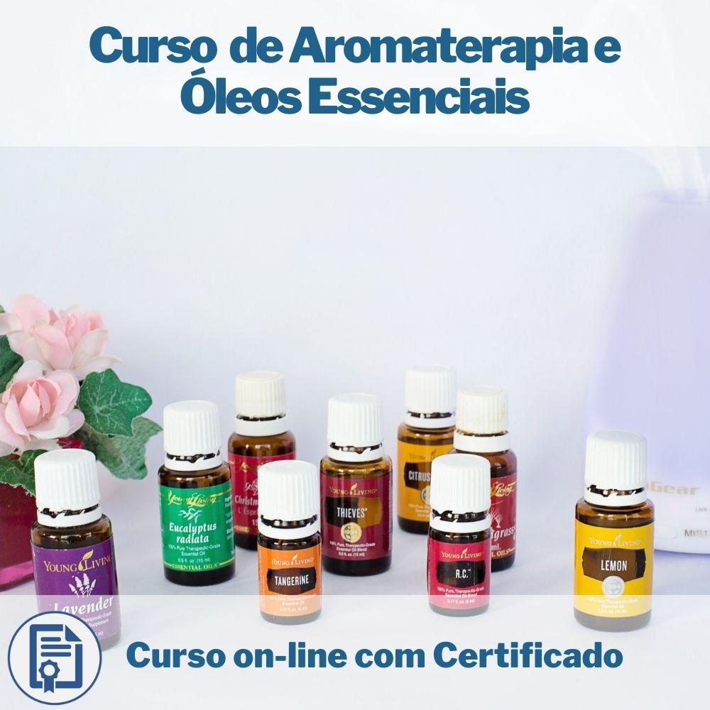 Curso on-line de Aromaterapia e Óleos Essenciais com Certificado