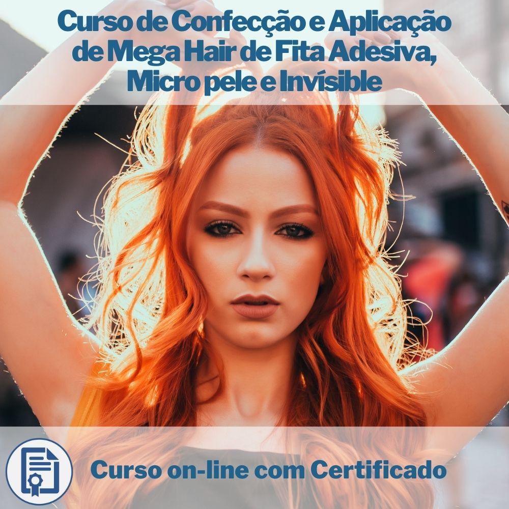 Curso on-line de Confecção e Aplicação de Mega Hair de Fita Adesiva, Micro pele e Invísible com Certificado