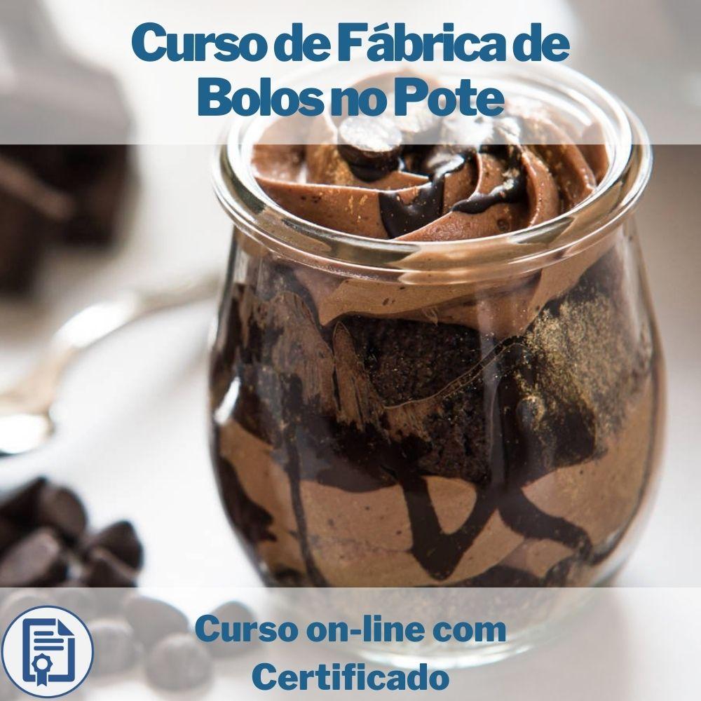 Curso on-line de Fábrica de Bolos no Pote com Certificado
