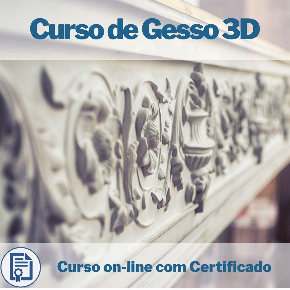 Curso on-line Ganhe Dinheiro com Gesso 3D com Certificado