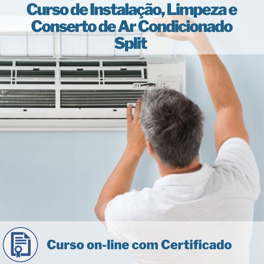 Curso on-line de Instalação, Limpeza e Conserto de Ar Condicionado Split com Certificado  - Aprova Cursos