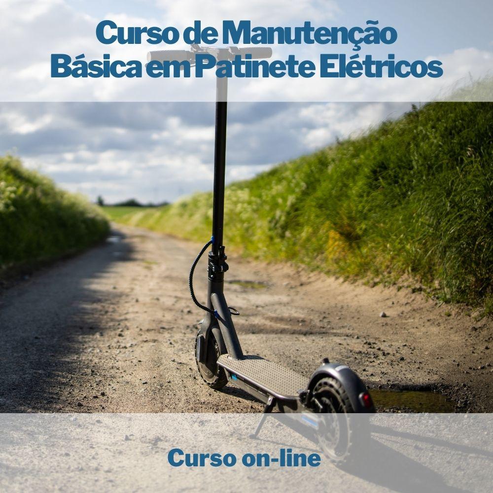 Curso on-line de Manutenção Básica em Patinete Elétricos